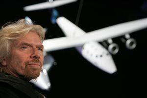 L'emblématique patron de Virgin, le milliardaire britannique Richard Branson.