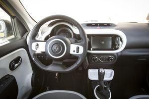 Intérieur de la Renault Twingo.