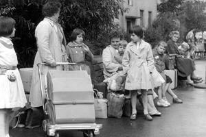 Les réfugiés de RDA au camp de Marienfelde en 1961.
