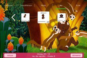 Jeu de rapidité de l'application Kirikou et les enfants extraordinaires. Crédits: LearnEnjoy.