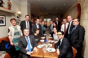 Les soutiens de Bruno Le Maire se sont retrouvés mercredi au restaurant parisin le Père Claude.