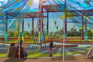Aperçu de l'espace qui sera dédié au cirque, à partir de juin 2015.