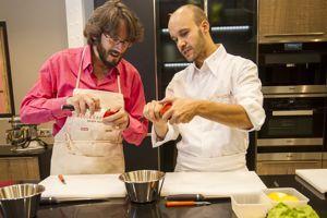 Nicolas d'Estienne d'Orves à l'École de cuisine Alain Ducasse