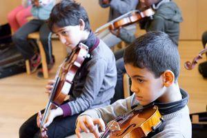 Atelier pratique à la Philharmonie de Paris.