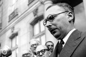 René Pleven, président du Conseil, le 12 juillet 1950.