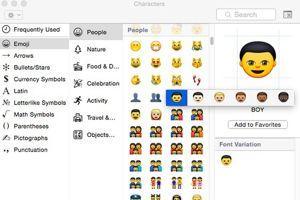 Aperçu des nouveaux emojis sur les ordinateurs Apple.