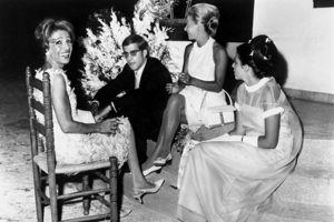 Alexandre, Tina et Christina Onassis en 1966.