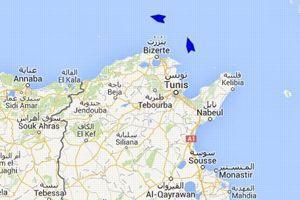 Le site Marine Traffic permet de suivre les positiosn des deux bateaux au large de la Tunisie, @Marine Traffic