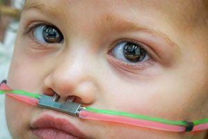 ©Ofer Perl. Pendant l'expérience, les enfants recevaient des odeurs différentes directement dans le nez.