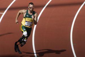 Oscar Pistorius lors des séries des Jeux olympiques de Londres en 2012. (Jim Thurston/Wikimedia Commons)