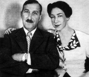 Stefan Zweig et sa femme Lotte Altmann, en 1940.