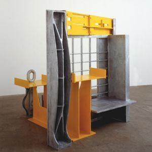 <i>The Yellow Room</i>, 2005, acier et fer moulé, galvanisé et peint. Courtesy Galerie Daniel Templon, Paris & Bruxelles.