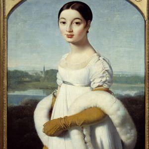 <i>Mademoiselle Caroline Riviere</i> (détail), Jean Auguste Dominique Ingres.