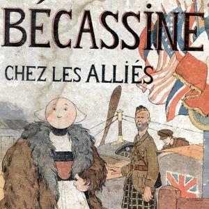 Couverture de l'album <i>Bécassine chez les Alliés</i> paru en 1917.