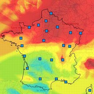 PM10, moyenne journalière zone France le 18 mars