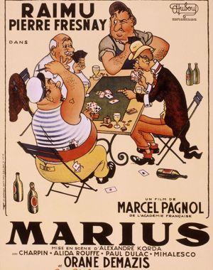 Affiche du film <i>Marius, en 1931.</i>