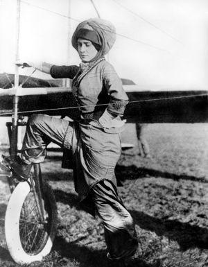 Marie Marvingt fut l'une des pionnières françaises de l'aviation.