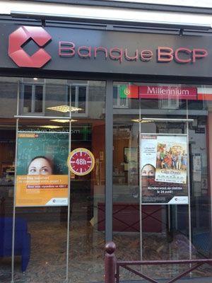 L'affiche du film sur les vitrines de la BCP. (DR)