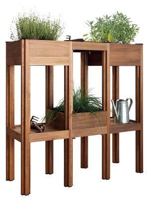 Potager modulable en bois français. 195 euros le module de base, structure d'extension 62 euros. <a href=