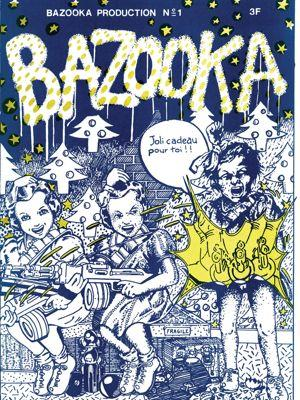 Visuel du fanzine <i>Bazooka, </i>publication française du collectif du même nom.<i></i>
