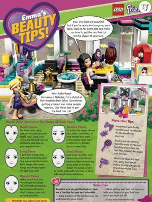 La page de conseils du magazine Lego Friends.