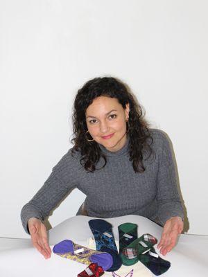 Marie Aichagui avec ses produits (DR).