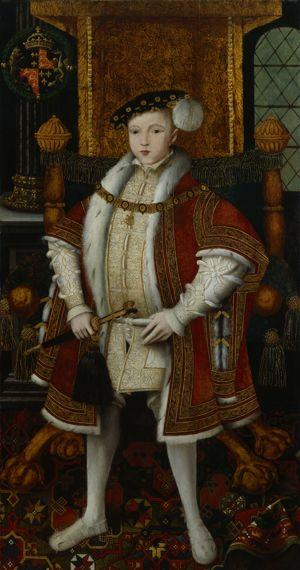 <i>Edouard VI</i>, atelier associé au maître dit «Master John», vers 1547.