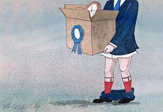 Dessin satirique de Phil Disley paru dans The Guardian sur la démission de Brooks Newmark.