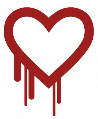 Le logo de la faille Heartbleed.