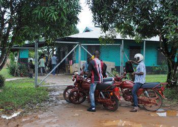 La clinique en quarantaine à Nedowein, près de Monrovia.