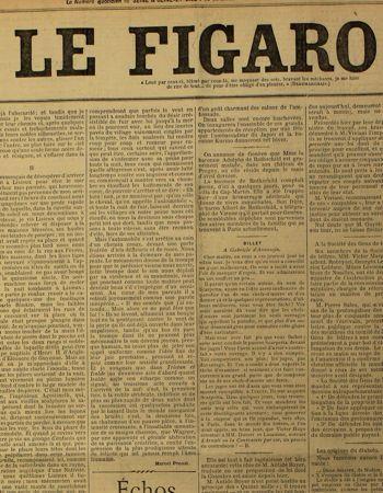 Marcel Proust «écrivain-voyageur» dans <i>Le Figaro </i>le 19 novembre 1907.
