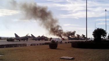 Dix morts dont neuf Français après le crash d'un F-16 grec en Espagne