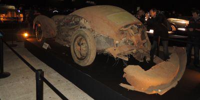 Défigurée, la Talbot T26 châssis court portant la signature Saoutchik a été vendue 1,7 million d'euros.