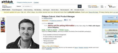 Le CV façon Amazon de Philippe Dubost lui a permis d'obtenir une centaine de propositions d'emploi.