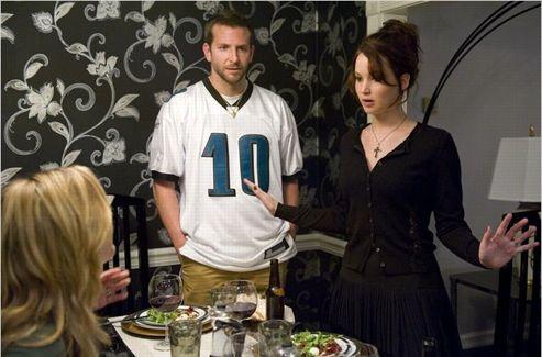 Jennifer Lawrence et Bradley Cooper dans <i>Happiness Therapy</i>. (Senator Filmverleih)