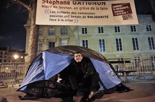 Stéphane Gatignon, maire écologiste de Sevran, lors de sa grève de la faim en novembre.
