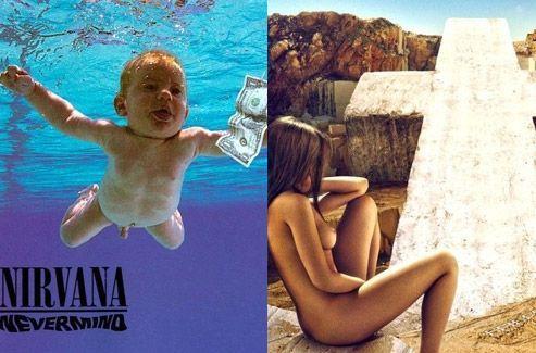 Les pochettes d'album des groupes Nirvana et Justice ne plaisent pas à Facebook. <i>(DR)</i>