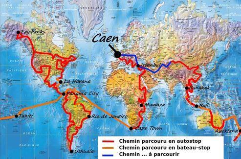 Photo du site internet de Jérémy Marie, le tour du monde en autostop.