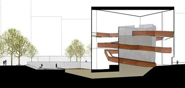 Esquisse du futur «foyer» dessiné par Katrina Spade.