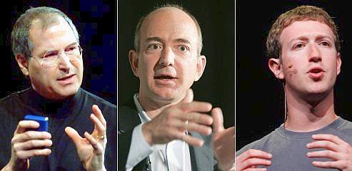Bezos et Zuckerberg, les héritiers de Steve Jobs
