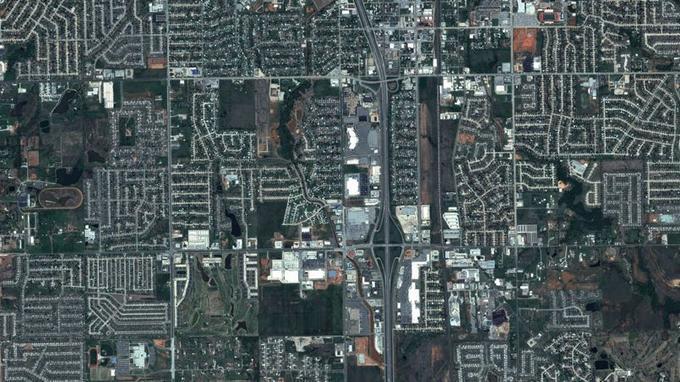 Vue de la ville de Moore en Oklahoma, le 29 avril 2013.