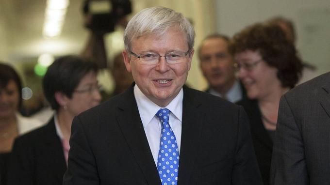 Le nouveau (et ancien) premier ministre australien, Kevin Rudd, 55 ans.