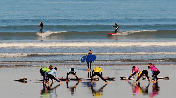 Apprentissage sur la plage des Dunes.