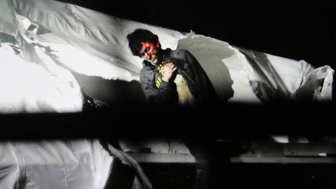 Djokhar Tsarnaïev, lors de sa reddition.