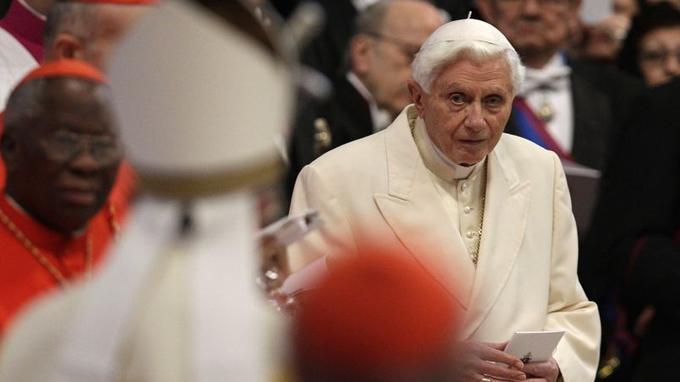 Benoiît XVI samedi à Rome.