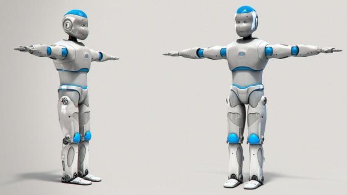 Le robot Romeo mesure 1, 40 m et pèse environ 40 kg. Crédits photo: Aldebaran Robotics.