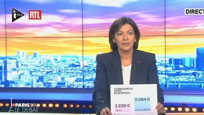 Anne Hidalgo sur i-Télé, ce mercredi.