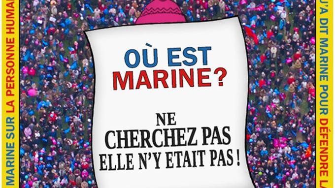 Christine Boutin détourne «Où est Charlie?» pour rappeler l'absence de Marine Le Pen dans la Manif Pour Tous