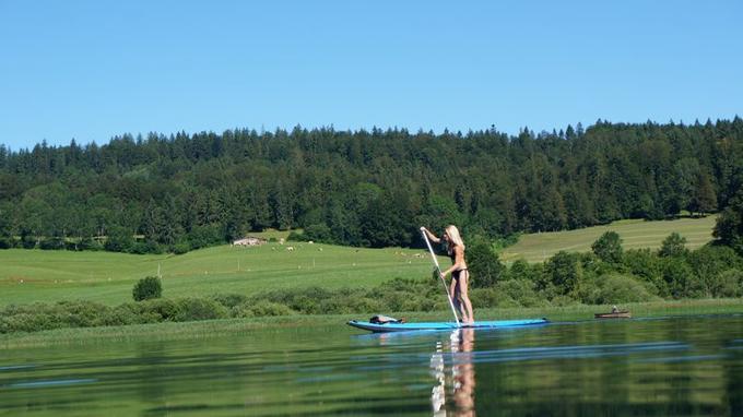 Saint-Point, jurassic lac. (Crédit: Base nautique des Grangettes)