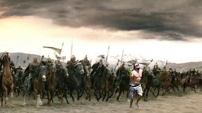 Léo et l'armée du Rohan dans <i>Le Seigneur des Anneaux</i>.